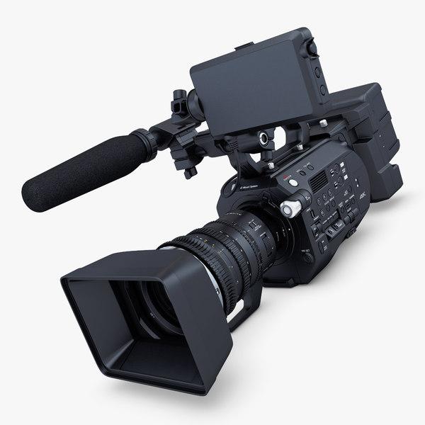 3D generic video camera hd model