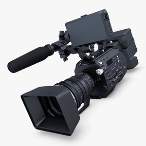 3D generic video camera hd model