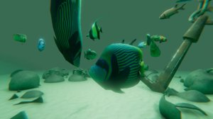 solution projects ai fishes 3D model
