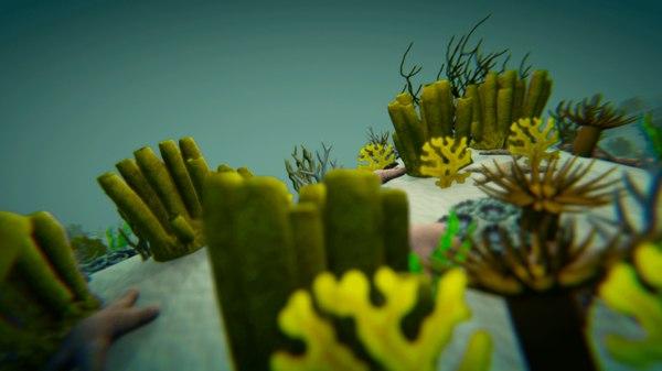 3D model vr corals - underwater