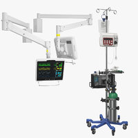 Collection Hospital Arm Monitor And IV Stand