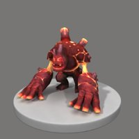 Flame monster