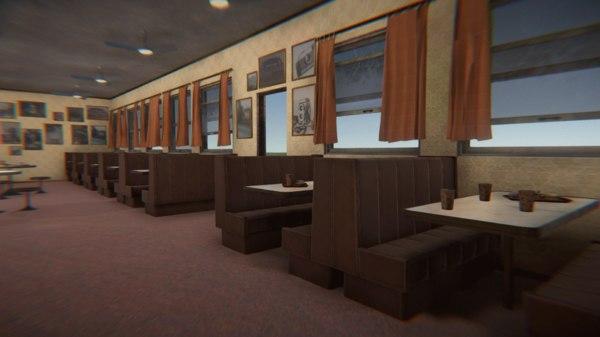 old school cafe 3D