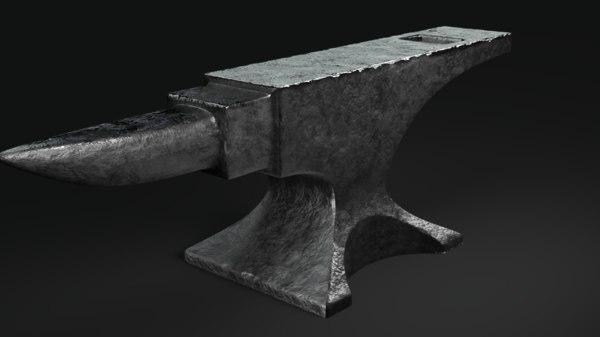 3D anvil tool model