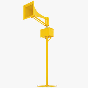 emergency tornado siren 3D model