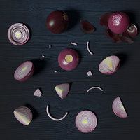 Low Poly Red Onion photorealistic