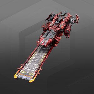 spacecraft carrier 3D model