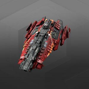 frigate 3D model