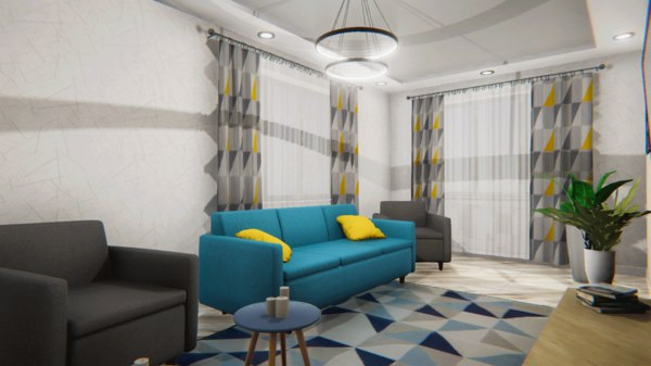 project apartment - modern interior 3D