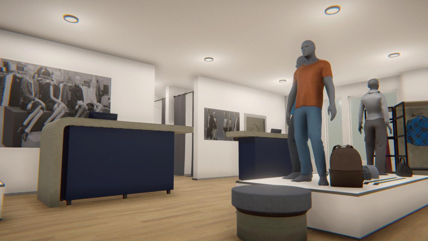 3D vr fashion shop -