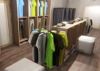 Clothing store - interior and props