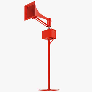 3D emergency tornado siren model