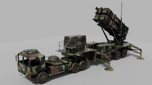 defence launcher 3D model