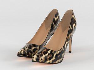 3D women shoes model