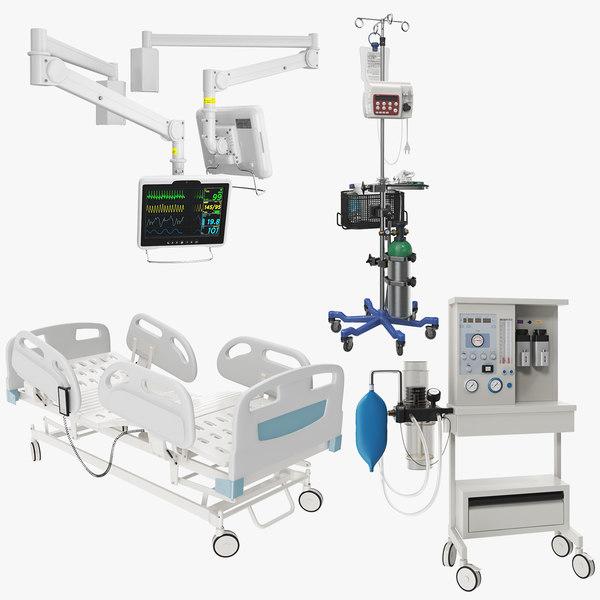 3D hospital equipment 01