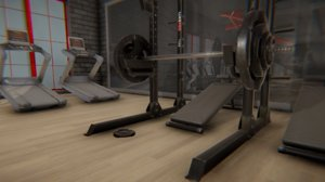 vr fitness hall - 3D model