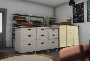 vr bakery - interior 3D model