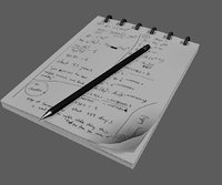 3D notepad note model