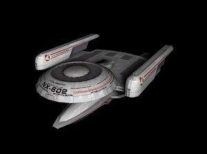 oberthclass star trek 3D model