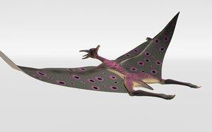 pterosour animation flying 3D model