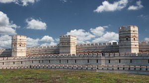 roman wall 3D model