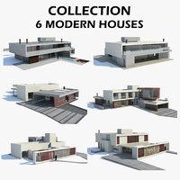 3D modern houses 6 model