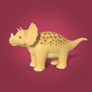 3D toy dinosaur