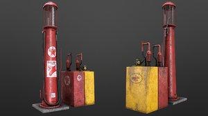 3D gas pump station