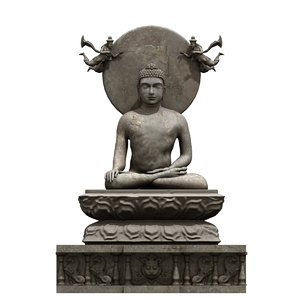 budha statue 3D model