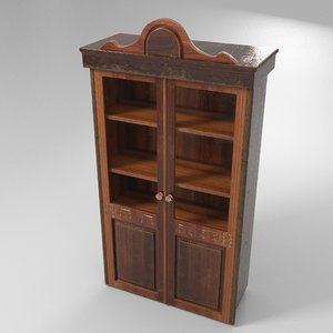 3D wooden cupboard model