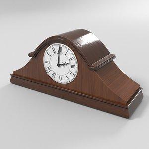 wooden clock model