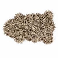 bedside sheepskin rug fur 3D