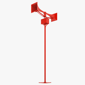 emergency tornado siren 3D