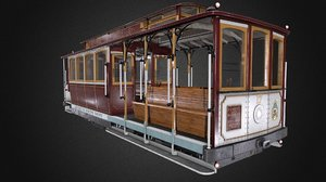 3D san francisco railway cable car