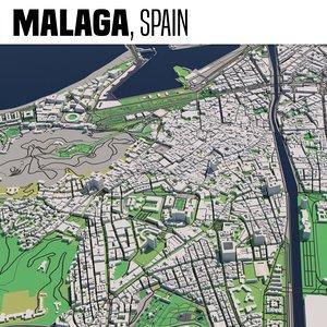 3D city malaga spain