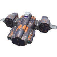 plasma corvette 3D model