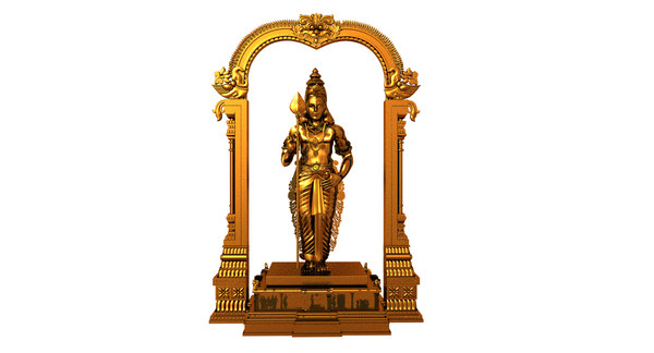 3D model god murugan