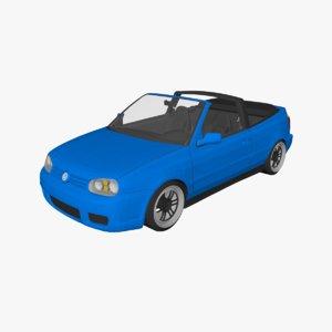 car vehicle golf 3D