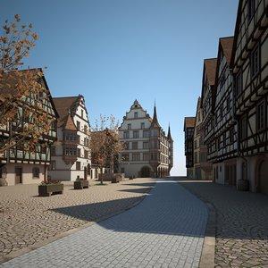 3D urban scene buildings