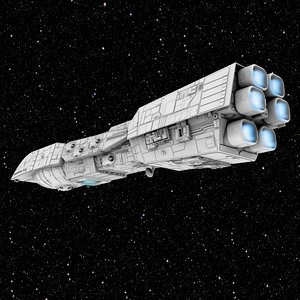 3D rendili dreadnought model