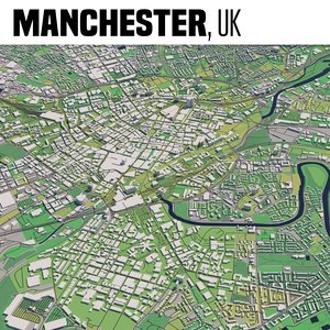 3D city manchester model