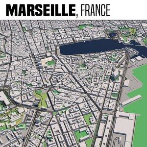 3D city marseille