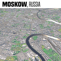 city moscow russia 3D model