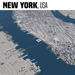 3D city new york model