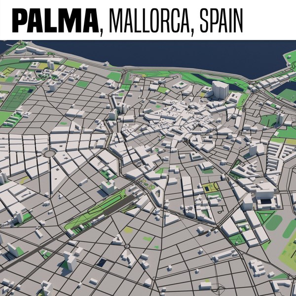 3D city palma mallorca