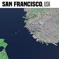 3D city san francisco model