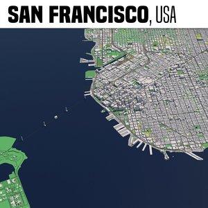 3D city san francisco model