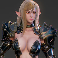 elf swordmaster ready 3D model
