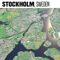 3D city stockholm model