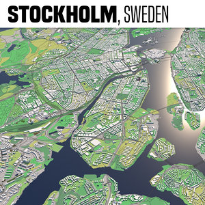 3D city stockholm model